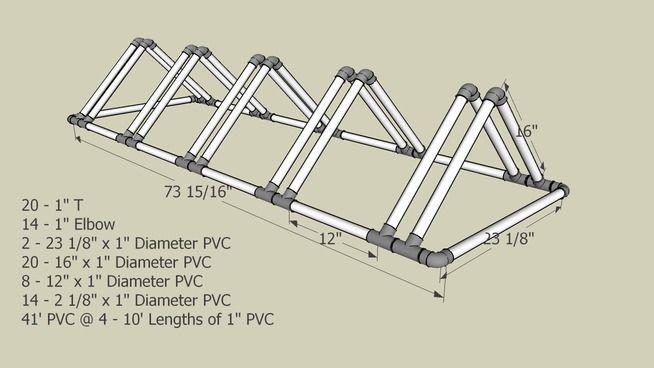 Triangle Pvc Bike Rack 3d Warehouse Diy Pinterest