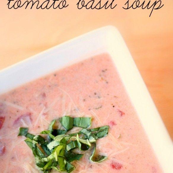 Slow Cooker Tomato Basil Soup | Soup ☆ Salad ☆ Crock Pot Recipes ...