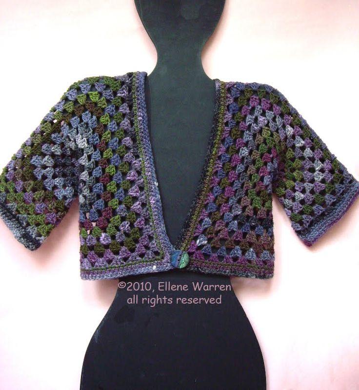 Granny Cardigan Crochet...Grannies...squares,circles ...
