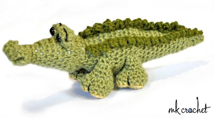 Alligator side Crochet A Zoo Bonus Patterns Pinterest