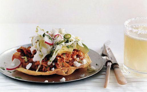 Chicken Tostadas. #Food #Recipes | cluck cluck ! | Pinterest
