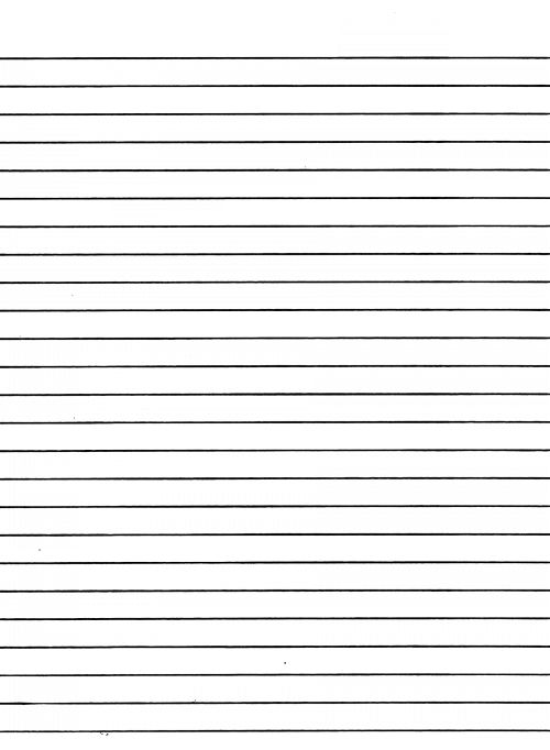 Blank Page With Lines For Writing Printable Editable Blank – Blank Lined Page