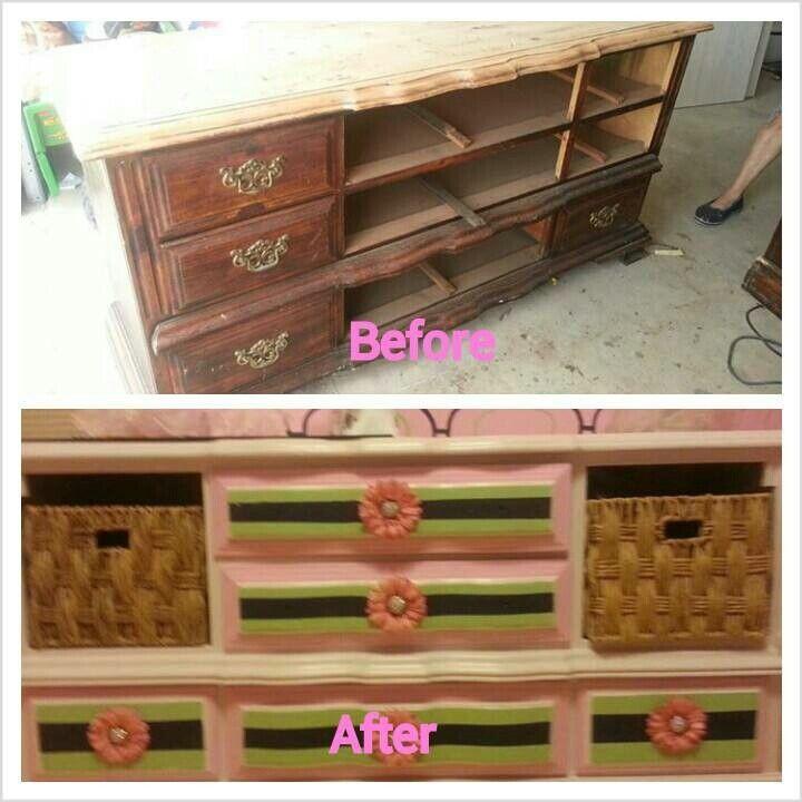Nursery refurbished furniture craft ideas