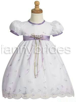 Cute Ball Gown Scoop Short Sleeve Short-length Bow and Flouncing ...