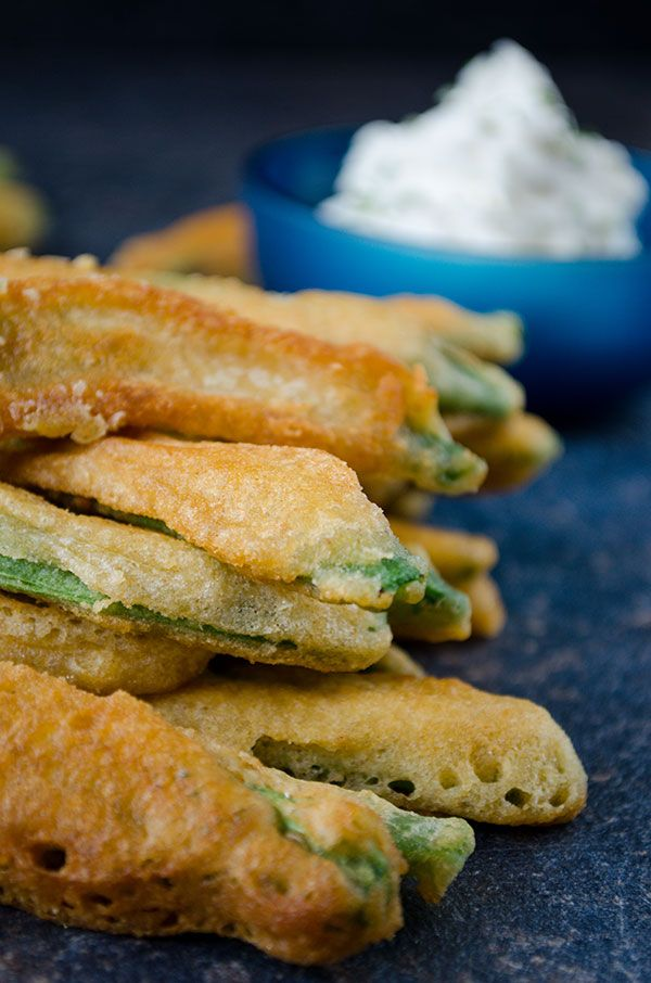 Fried green beans are the healthy alternative to regular french fries ...