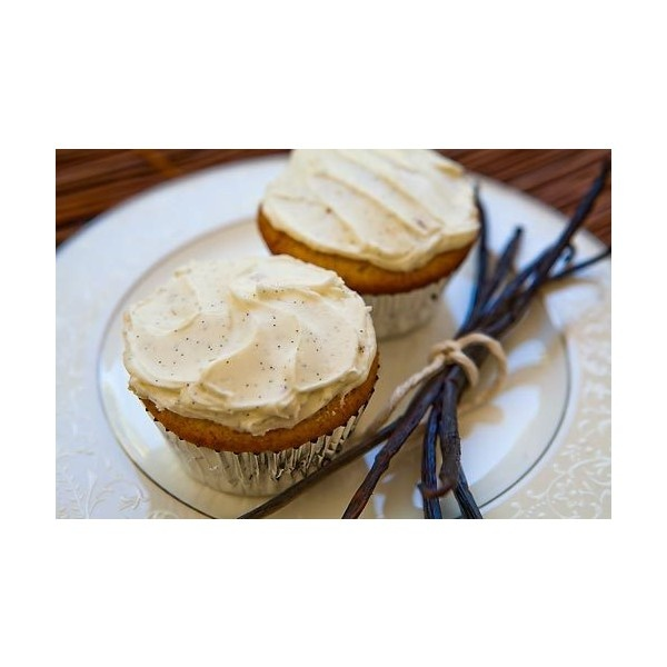 Double Vanilla Cupcakes Recipe liked on Polyvore