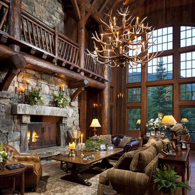cabin living room my ultimate log cabin pinterest