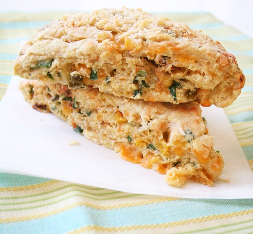 Jalapeno Cheddar Herb Scones | Small Bites & Party Food | Pinterest