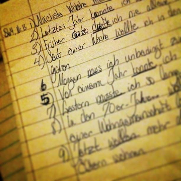 I do my homework in german