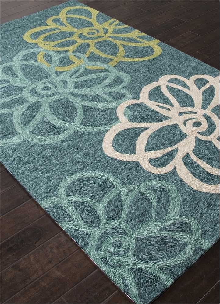 CAT08 Catalina Jaipur rug blossomed blue indoor outdoor