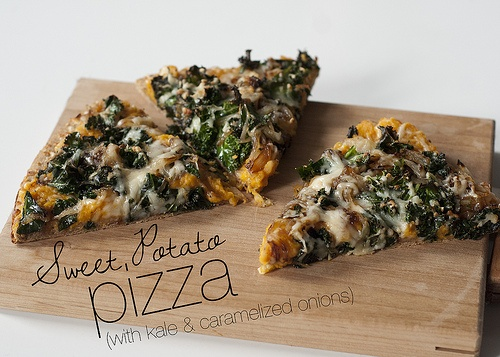 Roasted Sweet Potato Pizza With Spinach & Caramelized ...