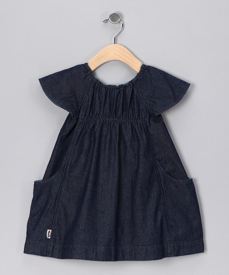 Indigo Denim Swing Me Organic Dress - Infant: pinterest.com/pin/105342078756532576