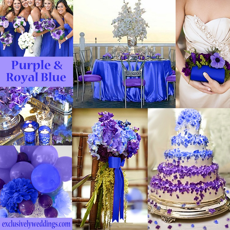 Purple wedding color combination options - Combination of blue and purple ...