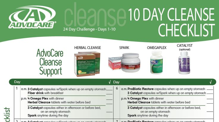 10 Day Advocare Cleanse Meal Plan