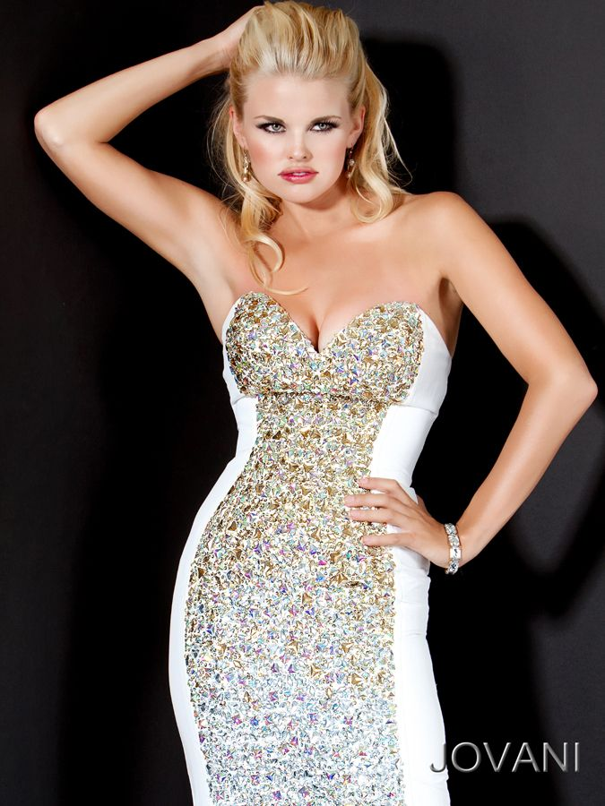 Jovani 2012 white long prom dress 172061