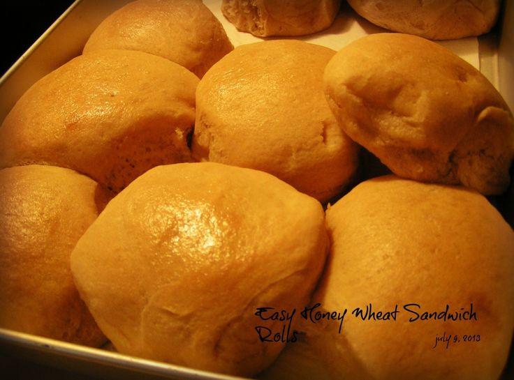 no knead whole wheat sandwich bread honey wheat sandwich rolls recipe ...