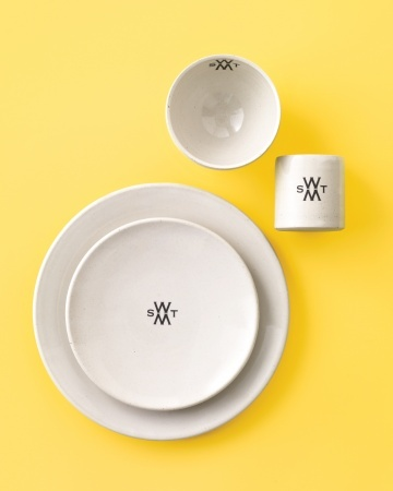"""This handcrafted stoneware with contemporary insignias has """"family heirloom"""" written all over it"""