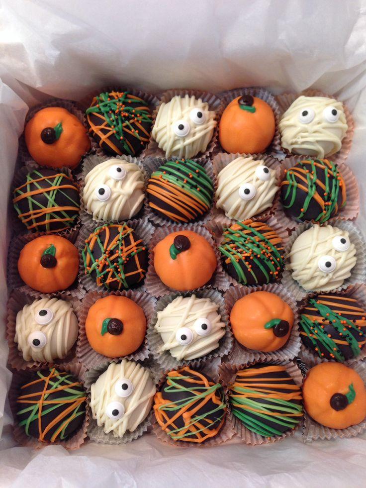 Halloween cake balls   Halloween Recipes   Pinterest