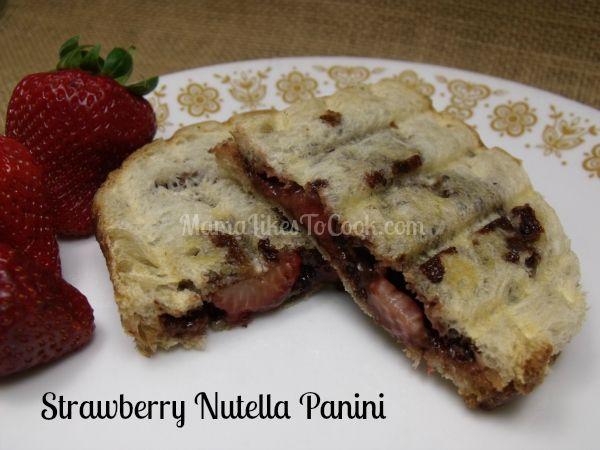 strawberry nutella panini | Fabulous Food | Pinterest