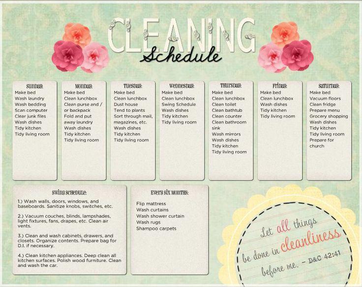 Kitchen Cleaning Schedule Template Uk Organization