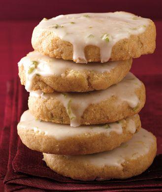 Low-Calorie Lime-Glazed Shortbread Cookies | Recipe