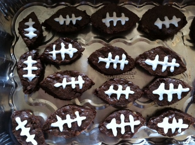 Touchdown Football Brownies | Recipe