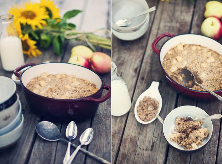 Baked Apple Pie Oatmeal Yield: 6-8 servings Prep Time: 15 minutes ...