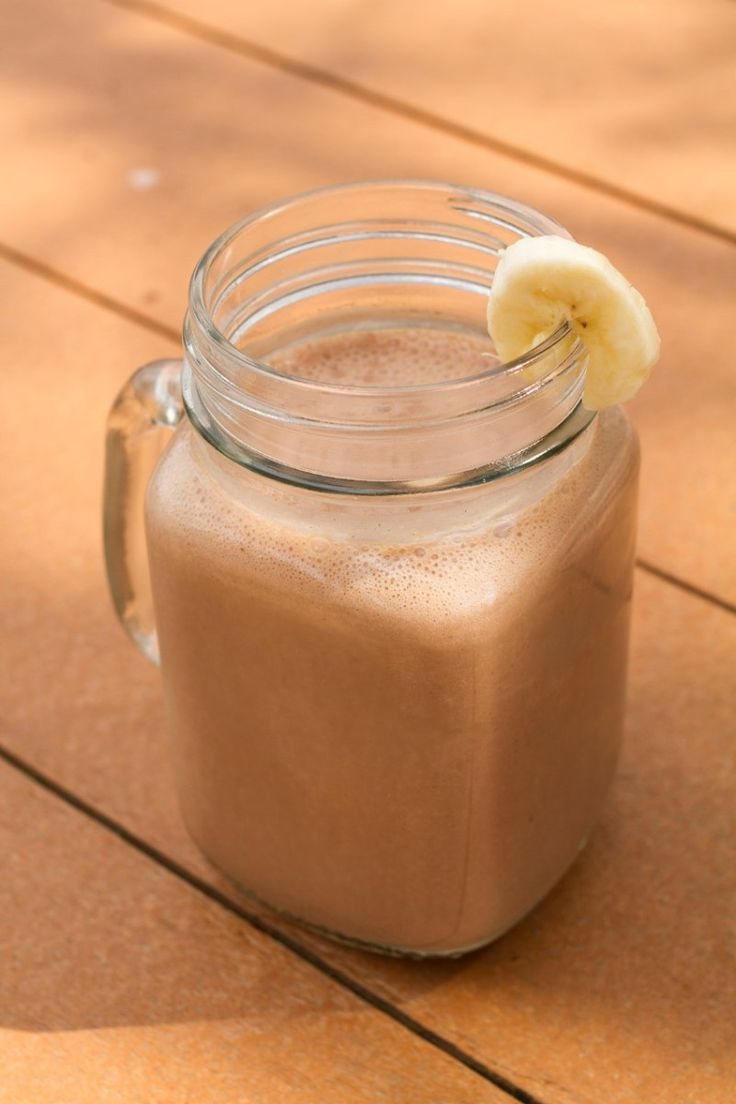 Chocolate Banana Delight using chocolate hempmilk, almond butter and ...