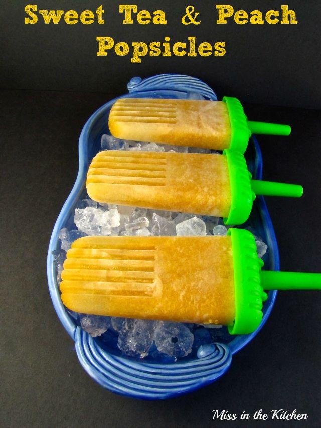 Peach Popsicles | missinthekitchen.com #popsicles #peaches #sweettea ...