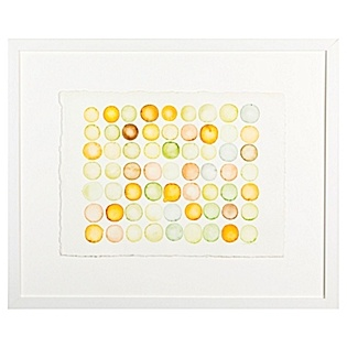 """""""Color Study for Orange and Green Circles"""" by Chris Crossen, available at Serena & Lily. #serenaandlily"""