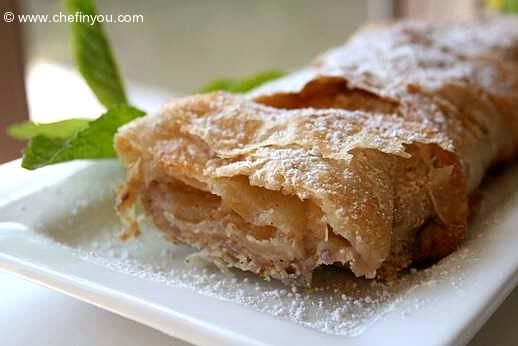 Traditional apple strudel | Dessert recipes | Pinterest
