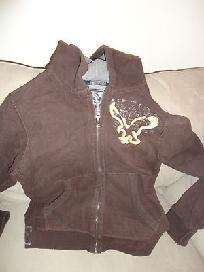 Long Sleeve Hooded zip front jacket