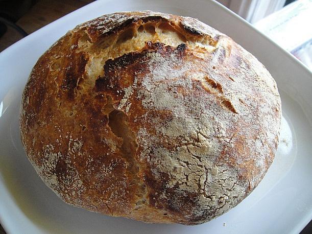 Basic No Knead Bread   Food   Pinterest