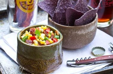 Bacon Candy Crumbled Into a Crisp Fresh Corn Salad Recipes. #Recipes