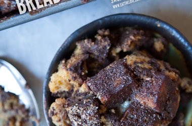 Dark Chocolate Sweet Potato Bread Pudding — Punchfork