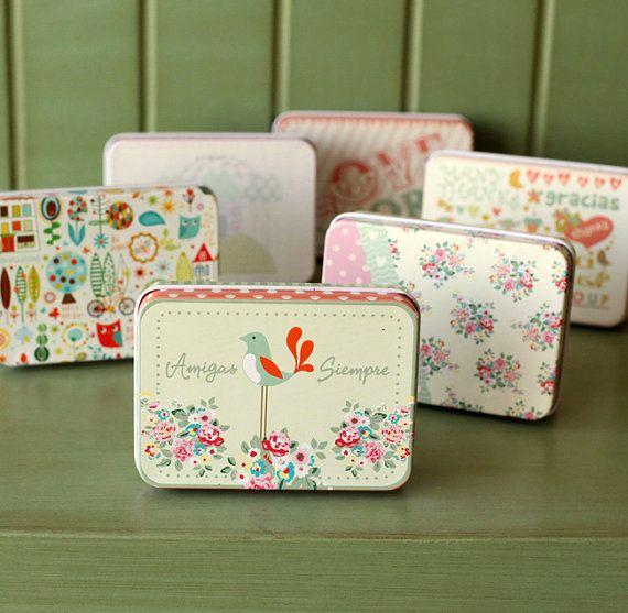 Wedding Gift Storage Box : Cute Storage Box/ Tin Box/ Make Up case/ Candy Box/ Case/ Wedding Gift ...