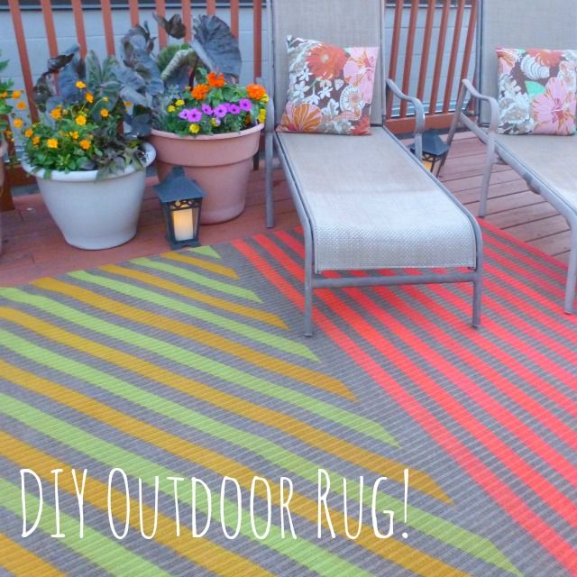 My Insanely Awesome DIY Outdoor Rug DIY Ideas