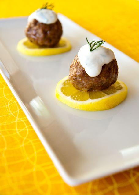 Lamb meatballs with lemon dill yogurt. | Luscious Lemon Savoury | Pin ...