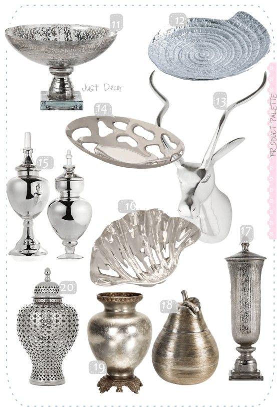 silver home decor accents Home Decor Pinterest