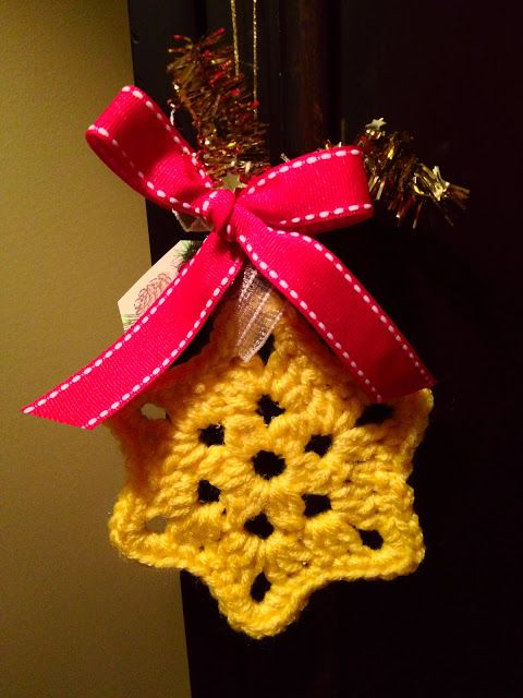 Crochet Christmas Ornaments : Crochet Christmas star ornament Crochet for Christmas Pinterest