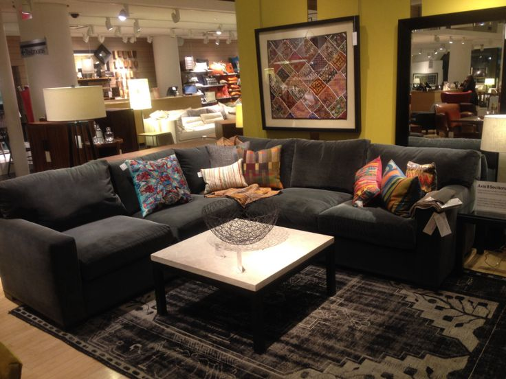 Crate And Barrel Living Room Sectional Home Pinterest