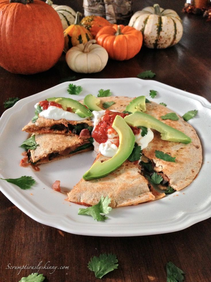 Sweet Potato & Spinach Quesadilla from Scrumptiously Skinny - Mexican ...