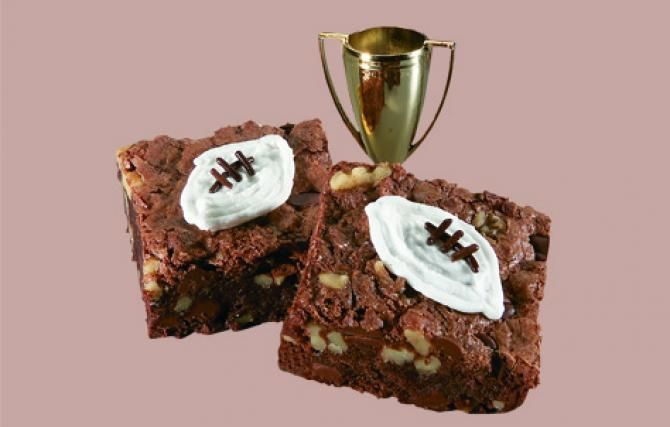 Touchdown Brownies Recipe — Dishmaps