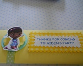 Doc Mc Stuffins Personalized Candy Bar Wrappers - Set of 8