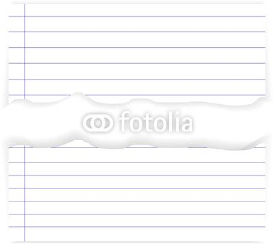 Torn Lined Paper Edges by xtremelife on Fotolia