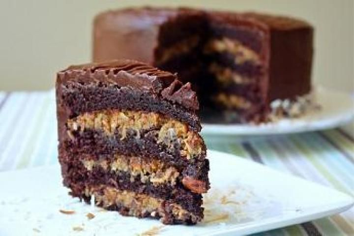 Inside-Out German Chocolate Cake http://www.yummly.com/recipe/Inside ...