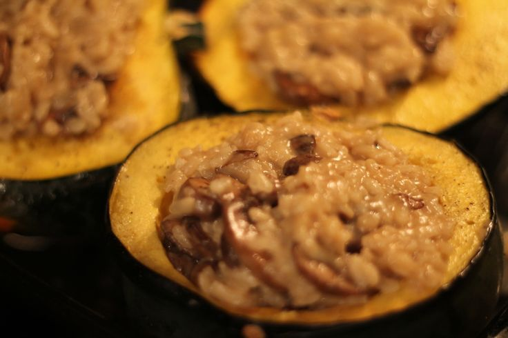 More like this: acorn squash , risotto and goat cheese .