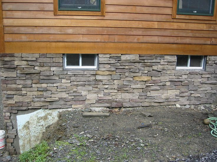 Stone Veneer Foundation Pretty It Up Homesweethome