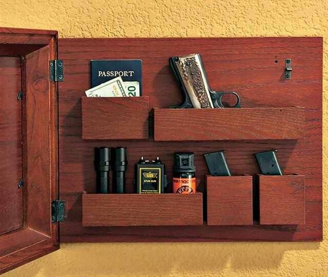 Picture frame hidden storage