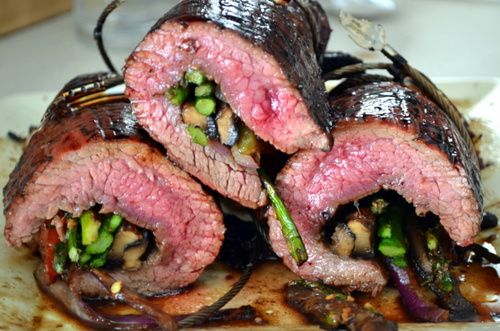 Team Traeger | Balsamic Glazed Flank Steak Rolled With Grilled Veggies